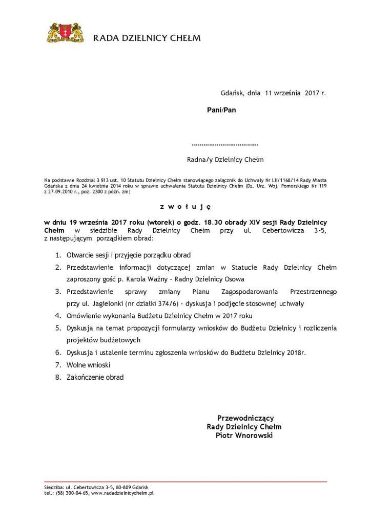 Obrady XIV Sesji Rady Dzielnicy Chełm
