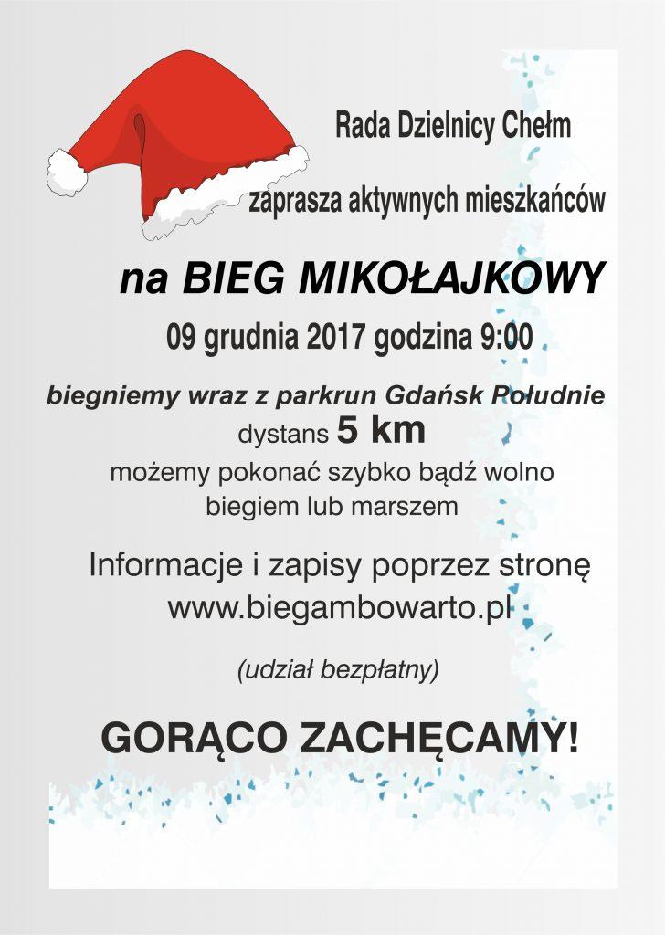 Zaproszenie na Bieg Mikołajkowy