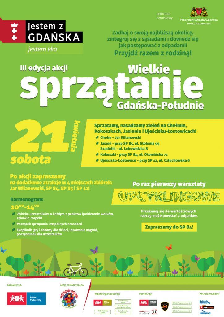 Wielkie Sprzątanie Gdańska – Południe, 21 kwietnia 2018
