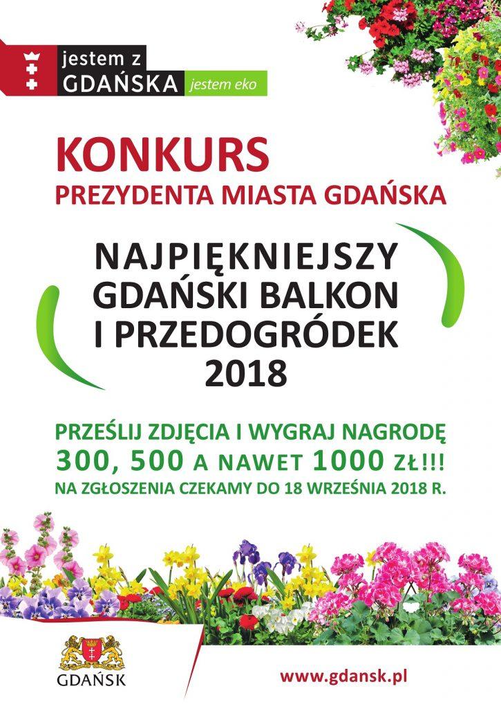 """Konkurs na """"Najpiękniejszy gdański balkon i przedogródek 2018"""""""