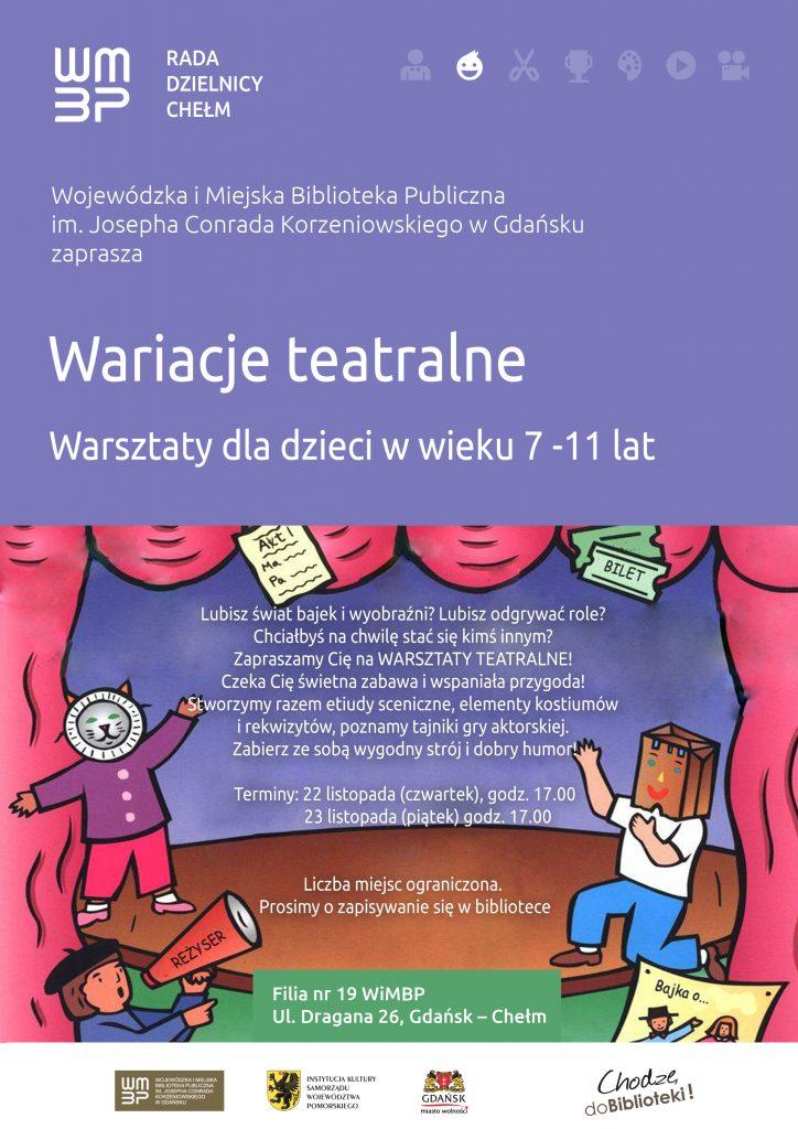 Warsztaty teatralne dla dzieci w wieku 7 - 11 lat