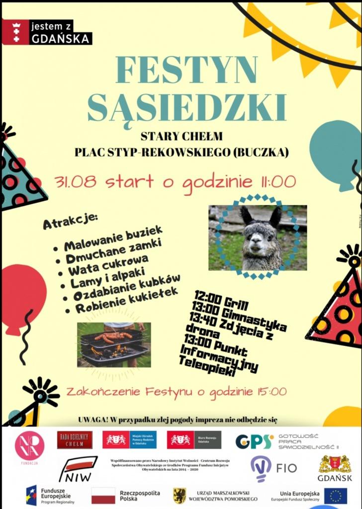 Festyn Sąsiedzki - 31 sierpnia 2019 r. - Plac Styp-Rekowskiego (dawny Plac Buczka)