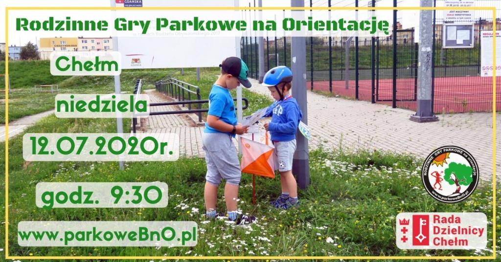 Rodzinne Gry Parkowe na Orientację - 12 lipca 2020 r.